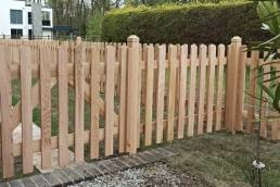 Cedar picket gate and fence